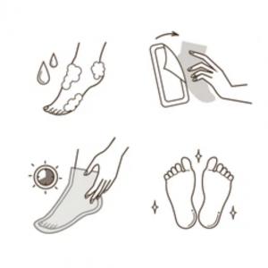 Nogavice za odstranjevanje trde kože
